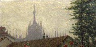 Angelo Morbelli, Le guglie del Duomo, 1915 - 1917, Olio su tela, Milano, Palazzo Morando – costume, moda, immagine