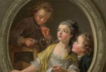 Charles Amedée Philippe Van Loo, Soap Bubbles, 1764, oil on canvas, 88.6 x 88.5 cm, National Gallery Washington