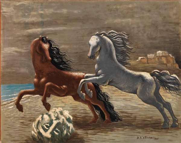 Giorgio de Chirico, Cavalli in riva al mare (Les deux chevaux), 1926