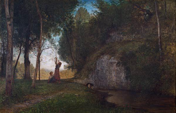 Antonio Fontanesi, La quiete, 1860. Fondazione Torino Musei - Galleria d'arte Moderna