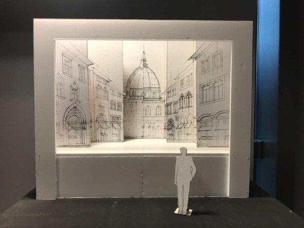 Scenografia_Modellino in scala del teatro della prospettiva su Firenze - Credits Mekane - Mostra De-Signo