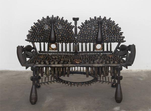 Goncalo Mabunda, Untitled (Throne), 2018-2019, mixed media; foto Nicola Gnesi