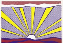 Roy Lichtenstein, Sunrise, 1965 Offset lithography on light weight white paper, 46.5 x 61.8 cm Private collection, Courtesy Sonnabend Gallery, New York © Estate of Roy Lichtenstein