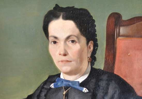 Giovanni Fattori, Ritratto della cognata, 1865 ca., olio su tela, cm 68x52