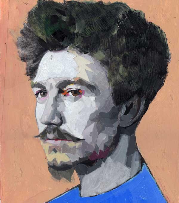 Andrea Ventura, Ezra Pound, 2018,t ecnica mista su carta, cm 40 ×30