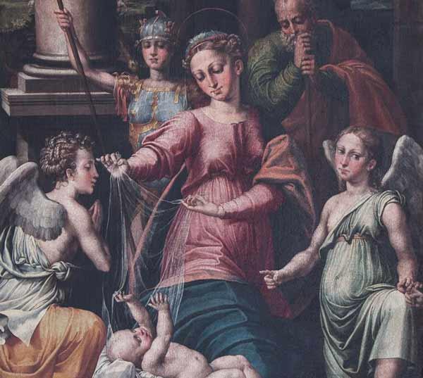 Madonna del Velo con gli Arcangeli Gabriele, Raffaele e Michele - Mostra a Urbino