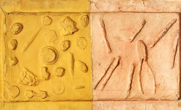 Remo Bianco, Impronta – Senza titolo 1956 ca., Impronta in cartone pressato, cm 32,3 x 49, N. Archivio: FRB1972, Collezione Koelliker, inv. LKRB0031