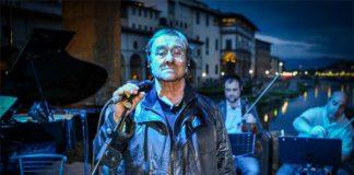 Lucio Dalla su Ponte Vecchio serata B envenuto Cellini ® New Press Photo - Because the Night