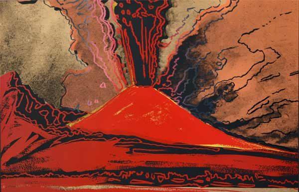 Andy Warhol Vesuvius, 1985, Serigrafia su carta, AP 3/50, 81x100 cm, Collezione privata, Genova © The Andy Warhol Foundation for the Visual Arts Inc. by SIAE 2019 per A. Warhol