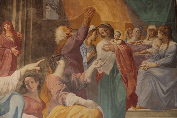 Ludovico Carracci, Nascita della Vergine (part.)