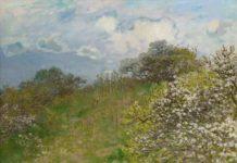 Claude Monet, La primavera, 1875, olio su tela, 58 x 78,5 cm - Mostra Dagli Impressionisti a Picasso