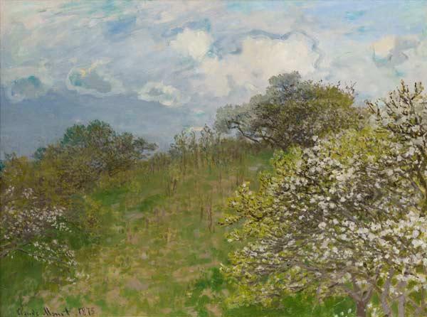 Claude Monet, La primavera, 1875, olio su tela, 58 x 78,5 cm - Mostra Dagli Impressionisti a Picasso - Mostra Dagli Impressionisti a Picasso