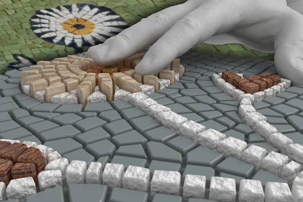 Accademia di Belle Arti di Ravenna, Incursioni: Mosaici Ruvidi Mostra: Biblioteca Classense - RavennaMosaico