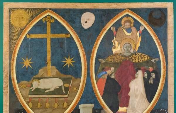 Ignoto, Madonna dei raccomandati e Agnello Mistico, Perugia, Galleria Nazionale dell' Umbria