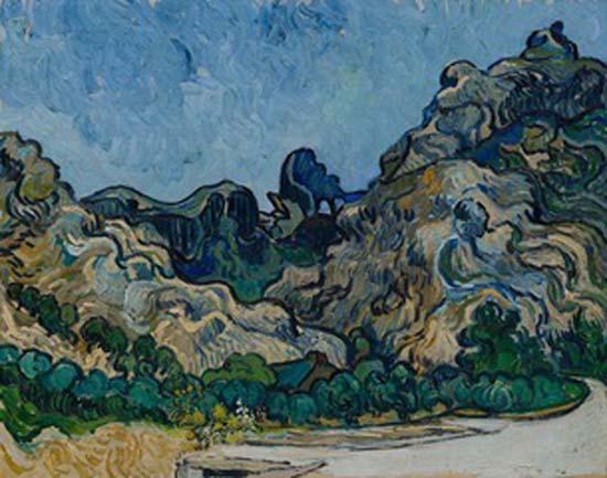 Vincent van Gogh, Montagne a Saint-Rémy (Montagnes à Saint-Rémy), Saint-Rémy-de-Provence, luglio 1889, Olio su tela, 72,8 × 92 cm, Solomon R. Guggenheim Museum, New York, Thannhauser Collection, Donazione Justin K. Thannhauser, 78.2514.24 © Solomon R. Guggenheim Foundation, New York (SRGF)