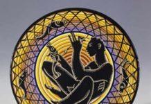 © Corrado Cagli, Pescatore, 1930 ceramica dipinta, ø 37 cm Collezione privata, Londra