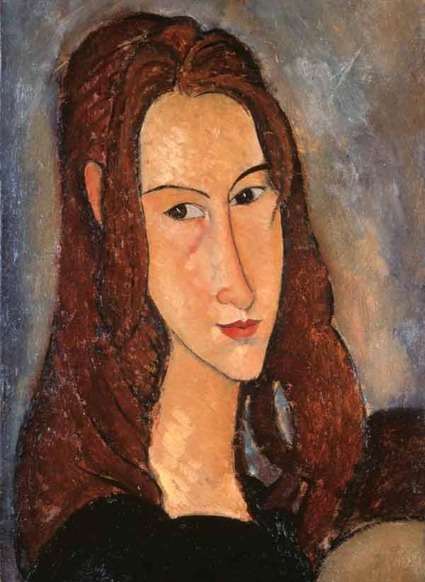 Amedeo Modigliani (Livorno,1884 - Paris, 1920), Jeune fille rousse (Jeanne Hébuterne), 1918, olio su tela, 46x29cm, collezione Jonas Netter