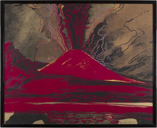 Andy Warhol Vesuvio, 1984, acrilico su tela, 80x100 cm, Collezione Consolandi (Milano)