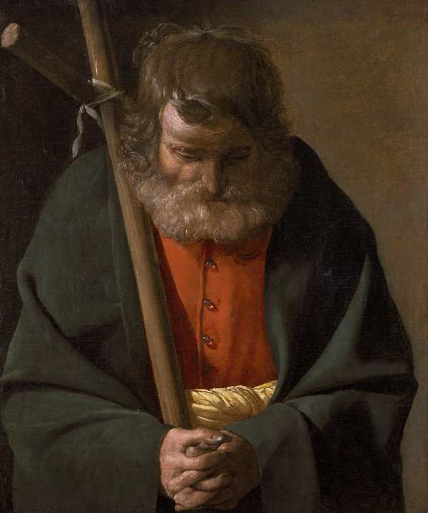 Georges de La Tour San Filippo, 1614-1615 ca. - 1623, Olio su tela, 63,5 x 53,3 cm, Chrysler Museum of Art, Norfolk, Stati Uniti