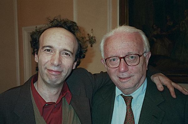 Roberto Benigni e Enzo Biagi