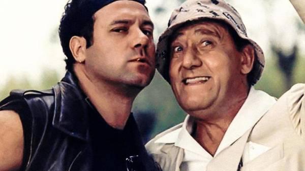 """Carlo Verdone e Alberto Sordi nel film """"Troppo forte"""""""