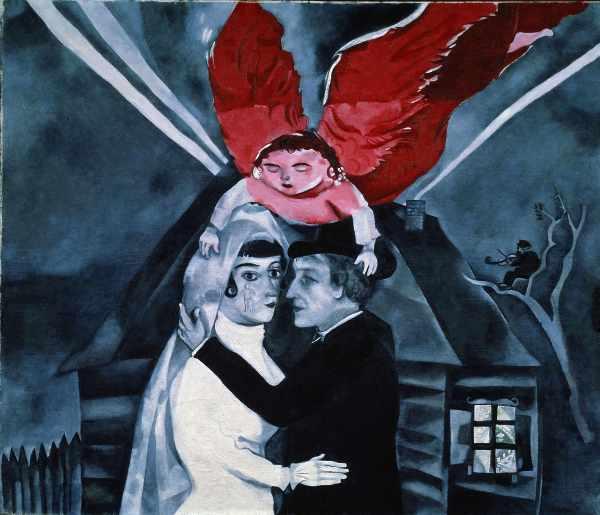 Marc Chagall, Il Matrimonio, 1918, Mosca, Tretyakov Gallery © Chagall ®, by SIAE 2020