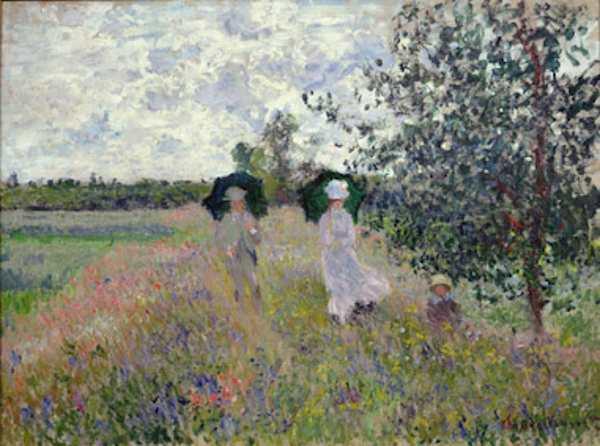 Claude Monet (1840-1926), Passeggiata vicino ad Argenteuil, 1875, Olio su tela, 61x81,4 cm, Parigi, Musée Marmottan Monet, dono Nelly Sergeant-Duhem, 1985, Inv. 5332 © Musée Marmottan Monet, Académie des beaux-arts, Paris